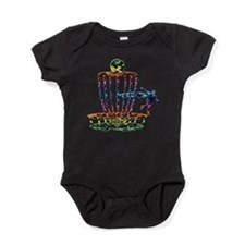 Disc Golf Basket Art Baby Bodysuit