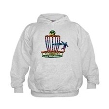 Disc Golf Basket Art Hoodie