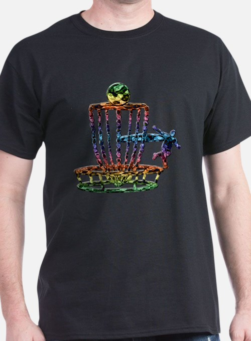 Disc Golf Basket Art T-Shirt