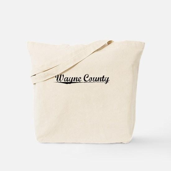 Wayne County, Vintage Tote Bag
