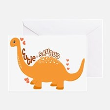 Cutie-Saurus Dinosaur  Greeting Card