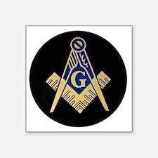 "Simply Masonic Square Sticker 3"" x 3"""