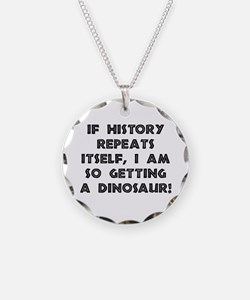 History Repeats Dinosaur Necklace
