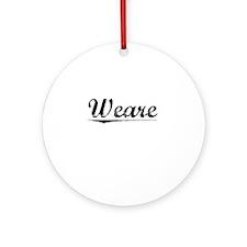 Weare, Vintage Round Ornament