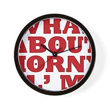 Horny Ol Me Wall Clock