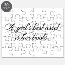 A girl's best asset is her books! Puzzle