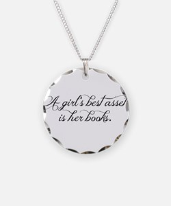 A girl's best asset is her b Necklace Circle Charm