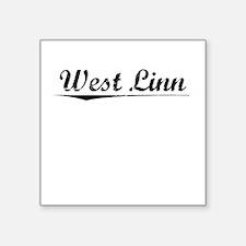 "West Linn, Vintage Square Sticker 3"" x 3"""