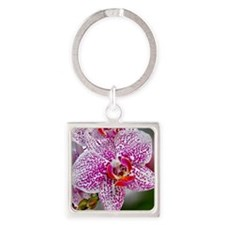 Orchid World Square Keychain