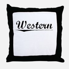 Western, Vintage Throw Pillow