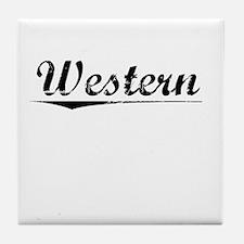 Western, Vintage Tile Coaster