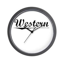 Western, Vintage Wall Clock