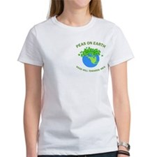 Peas on Earth Pocket Image Tee