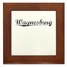 Waynesburg, Vintage Framed Tile