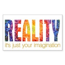 Reality Imagination Rectangle Decal