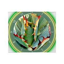 Cactus Clock Throw Blanket