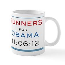 Runners for Obama square Mug
