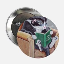 "Reading Cat 2.25"" Button"