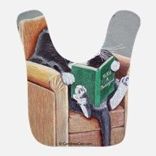 Reading Cat Bib
