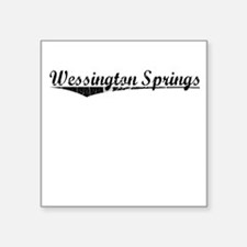 "Wessington Springs, Vintage Square Sticker 3"" x 3"""