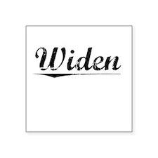 """Widen, Vintage Square Sticker 3"""" x 3"""""""