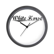 White Horse, Vintage Wall Clock