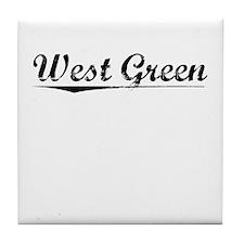West Green, Vintage Tile Coaster