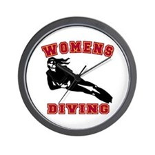 Women's Diving Wall Clock