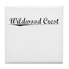 Wildwood Crest, Vintage Tile Coaster