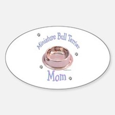 Miniature Bull Mom Oval Decal