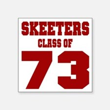 "MHS Class Of 1973 Square Sticker 3"" x 3"""