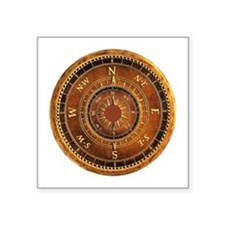 Compass Rose in Brown Sticker