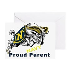 Proud USNA Parent Greeting Card