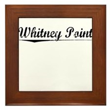 Whitney Point, Vintage Framed Tile