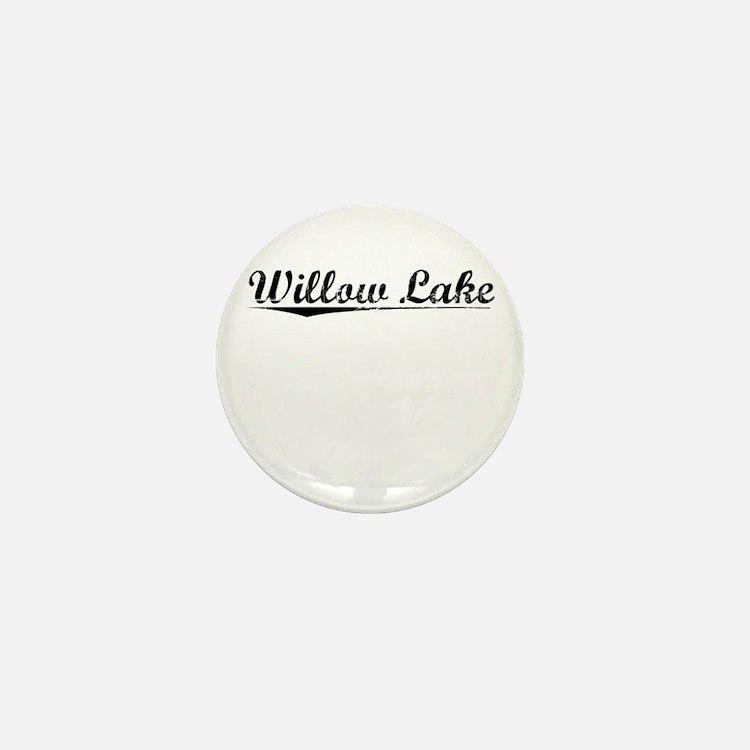 Willow Lake, Vintage Mini Button