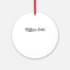 Willow Lake, Vintage Round Ornament