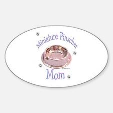 Min Pin Mom Oval Decal