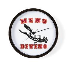 Men's Scuba Diving Wall Clock