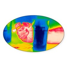 Smoking and drinking, thermogram Decal