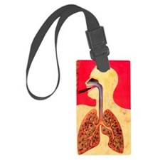Smoking and lungs Luggage Tag