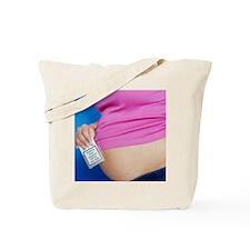 Smoking while pregnant Tote Bag