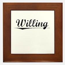 Willing, Vintage Framed Tile