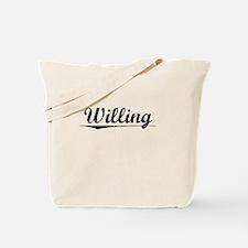 Willing, Vintage Tote Bag