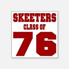 "MHS Class Of 1976 Square Sticker 3"" x 3"""