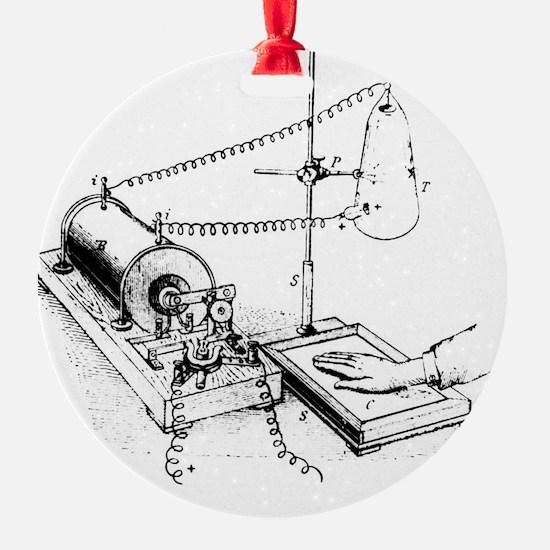 Art of Roentgen's X-ray apparatus f Ornament
