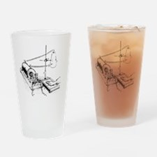 Art of Roentgen's X-ray apparatus f Drinking Glass
