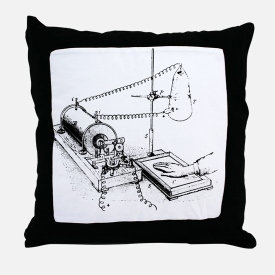 Art of Roentgen's X-ray apparatus for Throw Pillow