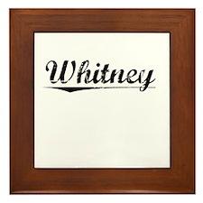 Whitney, Vintage Framed Tile