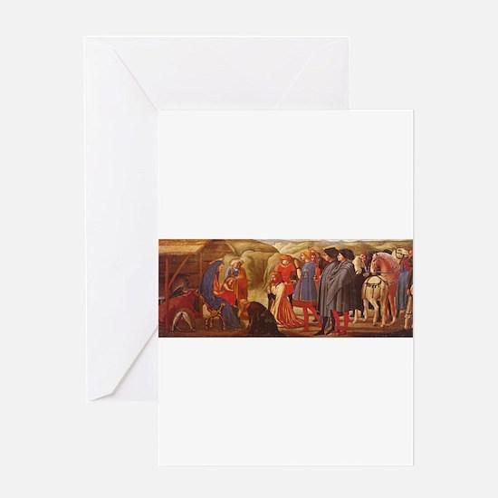 Adoration of the Magi - Masaccio Greeting Card