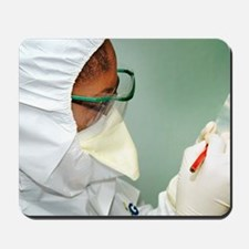 Smallpox infection Mousepad